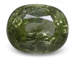 4.01 ct Oval Green Grossularite / Tsavorite Garnet