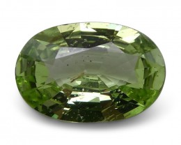 2.45 ct Oval Green Grossularite / Tsavorite Garnet