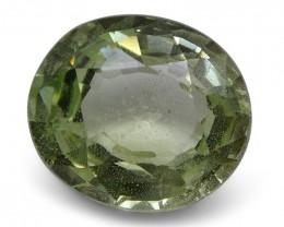 2.14 ct Oval Green Grossularite / Tsavorite Garnet