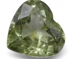 2.54 ct Heart Green Grossularite / Tsavorite Garnet
