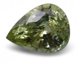 2.26 ct Pear Green Grossularite / Tsavorite Garnet