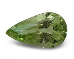 2.46 ct Pear Green Grossularite / Tsavorite Garnet