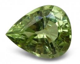 3.03 ct Pear Green Grossularite / Tsavorite Garnet