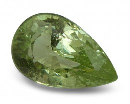 2.05 ct Pear Green Grossularite / Tsavorite Garnet