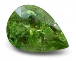 2.19 ct Pear Green Grossularite / Tsavorite Garnet