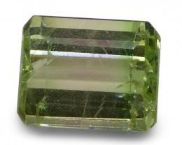 2.66 ct Emerald Cut Green Grossularite / Tsavorite Garnet
