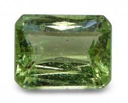 2.36 ct Emerald Cut Green Grossularite / Tsavorite Garnet