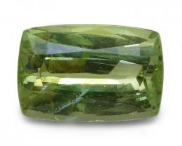 3.07 ct Cushion Green Grossularite / Tsavorite Garnet