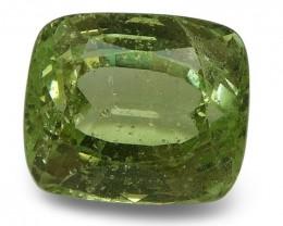 3.33 ct Cushion Green Grossularite / Tsavorite Garnet