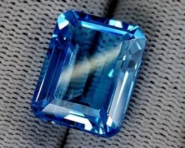 23.15CT SWISS BLUE TOPAZ  BEST QUALITY GEMSTONE IGC518