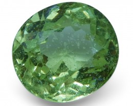 2.94 ct Cushion Green Grossularite / Tsavorite Garnet