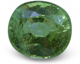 3.00 ct Cushion Green Grossularite / Tsavorite Garnet