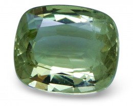 2.31 ct Cushion Green Grossularite / Tsavorite Garnet