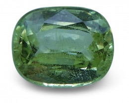 2.16 ct Cushion Green Grossularite / Tsavorite Garnet