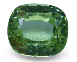 2.01 ct Cushion Green Grossularite / Tsavorite Garnet