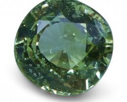 2.06 ct Cushion Green Grossularite / Tsavorite Garnet