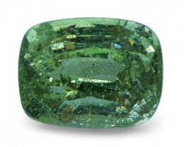 2.07 ct Cushion Green Grossularite / Tsavorite Garnet