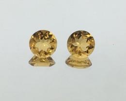 1.51 Carat VS Citrine Golden Pair - Calibrated Beautifully - Quality !