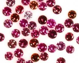 ~DIAMOND CUT~ 1.88 Cts Natural Pinkish Red Spinel 2.0 mm Round 44 Pcs Tanza