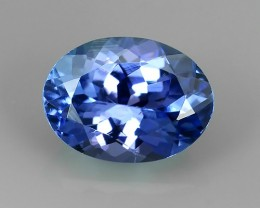 Private Auction 1.00 CTS MIND BOGGLING NATURAL RICH FIRE  BLUE COLOR TANZAN
