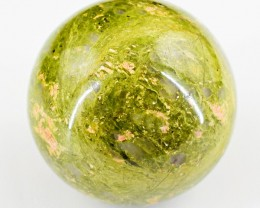 Genuine 890.00 Cts Blood Green Unakite Healing Ball