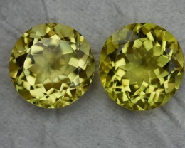 16.55 CRT BEAUTY AFRICAN PAIR LEMON QUARTZ-
