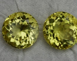 15.90 CRT BEAUTY AFRICAN PAIR LEMON QUARTZ-