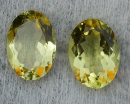 11.30 CRT BEAUTY AFRICAN PAIR LEMON QUARTZ-