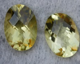 11.50 CRT BEAUTY AFRICAN PAIR LEMON QUARTZ-