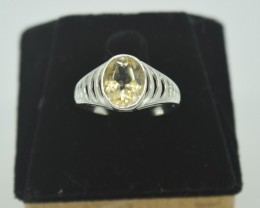 CERTIFIED NATURAL UNTREATED CITRINE  RING 925 STERLING SILVER JE983
