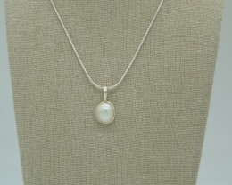 CERTIFIED NATURAL UNTREATED PEARL PENDANT 925 STERLING SILVER JE984