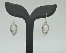 CERTIFIED NATURAL UNTREATED PEARL  EARRINGS 925 STERLING SILVER JE1000