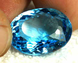 31.83 Carat Brazil Blue VVS/VS Topaz - Gorgeous