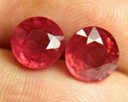 7.61 Tcw. Matched Cherry Ruby Pair - Gorgeous