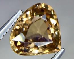 3.05 Crt Natural champagne Color Zircon Beautiful Faceted Gemstone.( AG 62)