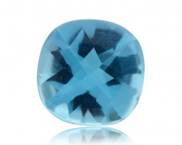 13 ct 15x15 mm Cushion Sky Blue Topaz - $1 No Reserve Auction