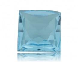 13 ct 14x14 mm Square Checkerboard Cut Sky Blue Topaz
