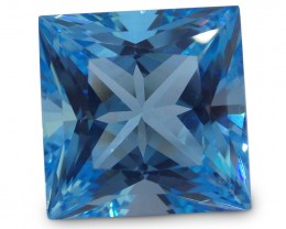 16 ct 14x14 mm Square Cut Sky Blue Topaz - $1 No Reserve Auction