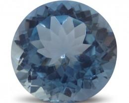 11 ct 14x14 mm Round Sky Blue Topaz - $1 No Reserve Auction