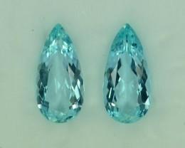 9.51 Cts Fabulous Natural Aquamarine Pair