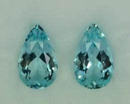 11.28 Cts Stunning Attractive  Aquamarine Pair