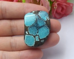 Free shipping 45ct Natural turquoise  cabochon bead (18091273)