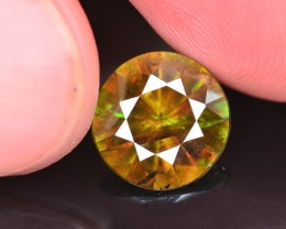 Top Fire 3.80 Ct Natural Chrome Green Sphene