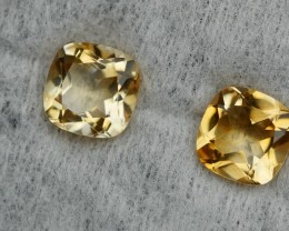 2.90 CRT GOLDEN PAIR YELLOW CITRINE-