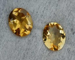 4.20 CRT GOLDEN PAIR YELLOW CITRINE-