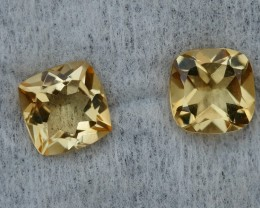2.85 CRT GOLDEN PAIR YELLOW CITRINE-