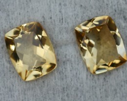5.15 CRT GOLDEN PAIR YELLOW CITRINE-