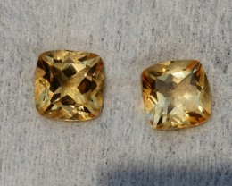 4.65 CRT GOLDEN PAIR YELLOW CITRINE-