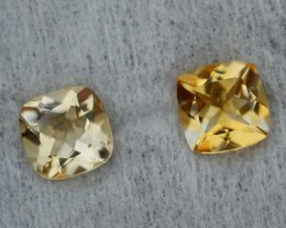 2.80 CRT GOLDEN PAIR YELLOW CITRINE-