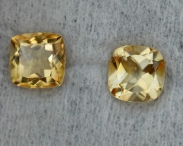 3.20 CRT GOLDEN PAIR YELLOW CITRINE-